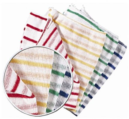 Green Stripe Dish Cloth